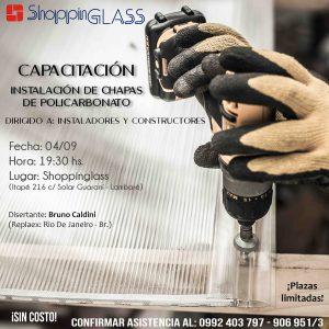 CAPACITACIÓN Instalación de chapas de policarbonato